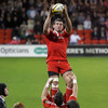 Denis Leamy, pictured winning a lineout ball, scored Munster's opening try in the 20th minute