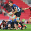 Second row Devin Toner swept through under the posts to score his third senior try for Leinster, but the Scarlets proved too strong in a seven-try success