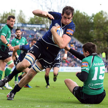Devin Toner crashes over for a try against Connacht