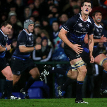 Leinster's Devin Toner keeps his eye on the ball