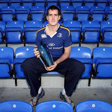 Devin Toner with his award at Donnybrook