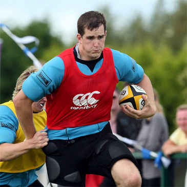 Churchill Cup winner Devin Toner training with Leinster
