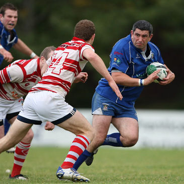 Portadown's Diarmuid O'Kane in action against Nenagh Ormond