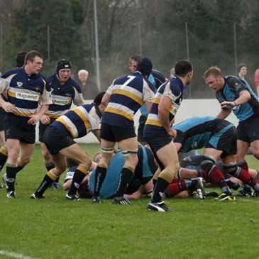 Action from the Belfast Harlequins v Dolphin cup tie