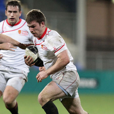 Dominic Gallagher in action for Dublin University