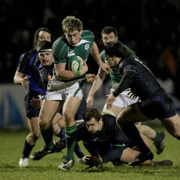 Flanker Dominic Ryan on the attack for the Ireland Under-20s