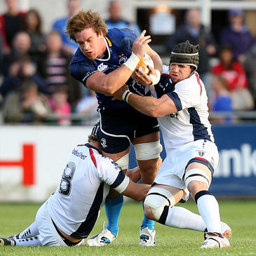 Dominic Ryan in action for Leinster