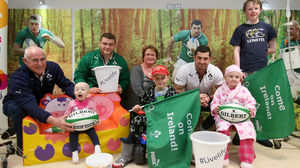 Ireland Players Visit Our Lady's Children's Hospital, Crumlin, Wednesday, January 29, 2014