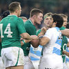Tempers flared during a scrappy period midway through the second half, with Donnacha Ryan arguing his point with Gonzalo Tiesi