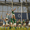 Argentinian skipper Juan Martin Fernandez Lobbe is unable to prevent Donnacha Ryan from securing lineout possession for Declan Kidney's men