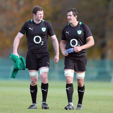 Ireland's Donnacha Ryan and Mike McCarthy