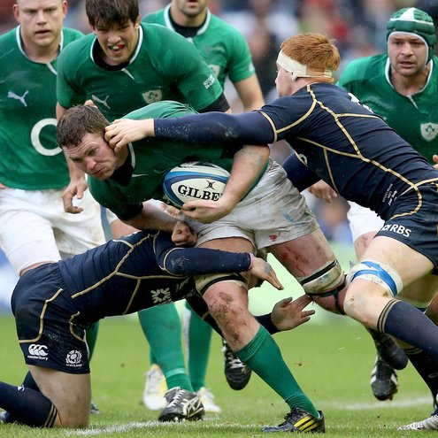 Donnacha Ryan suffered a bruised shoulder against Scotland