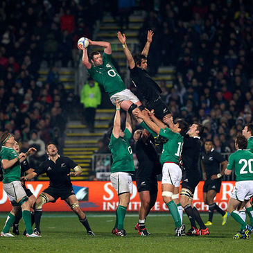 Donnacha Ryan rises highest to claim a lineout for Ireland