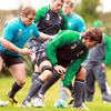 Pictured grounding the ball, second row Donncha O'Callaghan will make his 80th appearance for Ireland this weekend. His debut was against Wales back in March 2003