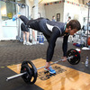 Pictured working out with a barbell, Donncha O'Callaghan says it is important to strike the right balance between gym and rugby training ahead of a big tournament