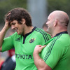 Donncha O'Callaghan enjoys catching up with John Hayes before the players get down to the serious business of preparing to face Aironi
