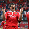 A delighted Donncha O'Callaghan marked Munster's league success in his own inimitable style