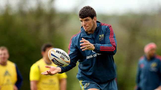 Donncha O'Callaghan training with Munster