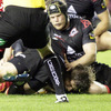 From the ensuing ruck, replacement lock Donncha O'Callaghan burrowed his way over for Munster's only try