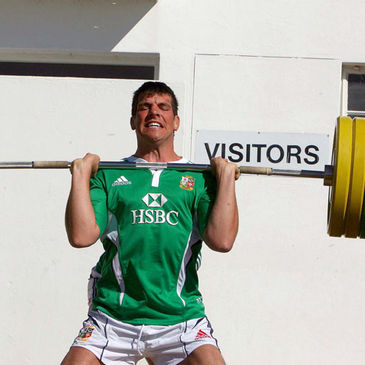 Donncha O'Callaghan taking part in a weights session