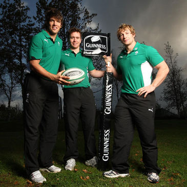 Donncha O'Callaghan, Eoin Reddan and Jerry Flannery