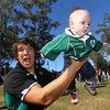 Donncha O'Callaghan gets some practice in with his new second row partner, aka Zane
