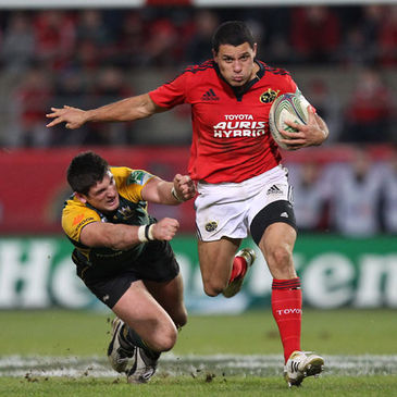 Doug Howlett in Heineken Cup action for Munster