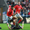The Ospreys defence proved a tough nut to crack, despite the best efforts of Munster captain Doug Howlett and Ronan O'Gara