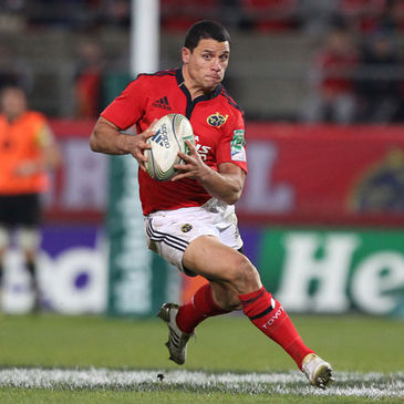 Doug Howlett in action for Munster in this season's Heineken Cup