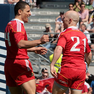 Munster's Doug Howlett and Peter Stringer
