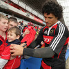 Doug Howlett was a popular man for the autograph seekers as the Munster players mingled with the fans