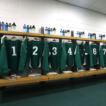 The Ireland dressing room at Croke Park
