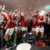 The champagne and beer flowed as the Lions players let off some steam after a pressure-filled few weeks on tour