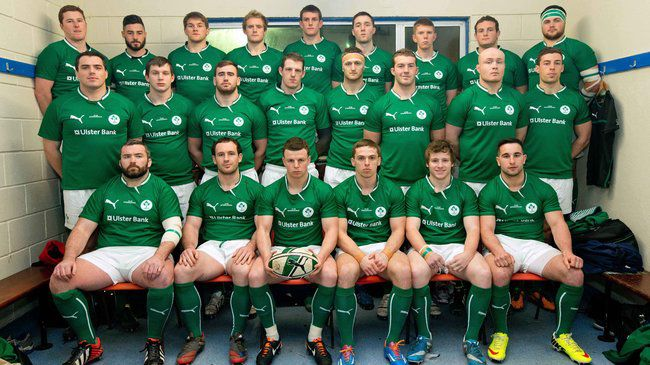 The Ireland Club XV squad before their win over Scotland