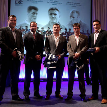 Anthony Foley, Geordan Murphy, Brian O'Driscoll, Ronan O'Gara and David Wallace