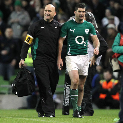 Rob Kearney limped off against South Africa