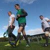 Keith Earls, Jonathan Sexton and Sean O'Brien are pictured arriving for training on team announcement day in Takapuna