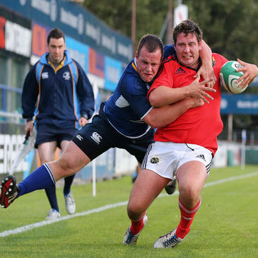 Action from the match between the Leinster and Munster U-20s