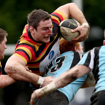 Lansdowne's Ed O'Donoghue in action against Galwegians
