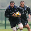 Second row Ed O'Donoghue, who made his senior bow for Leinster in Glasgow, is pictured training with the squad at UCD