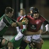 Portugal number 8 Eduardo Acosta tries to break away from Connacht's Colm Rigney