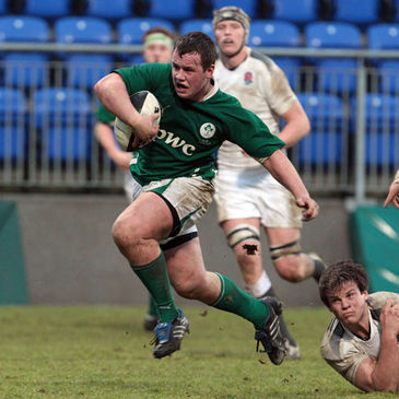Edward Byrne in action for the Ireland U-18 Schools side last season