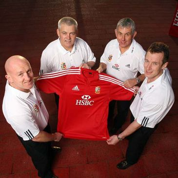 Shaun Edwards, Warren Gatland, Ian McGeechan and Rob Howley