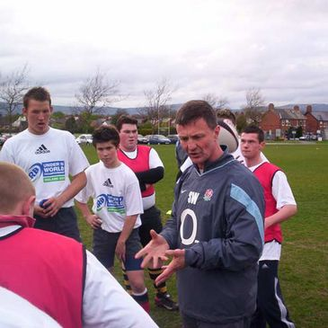 England U-19 fitness coach Simon Worsnop in full flow