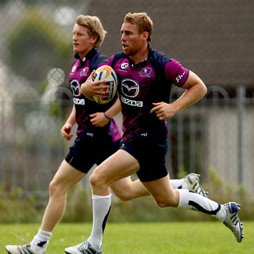 Eoin Griffin and Gavin Duffy are pictured during a recent training session