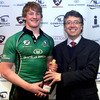 The 20-year-old Eoin Griffin, who formed a centre partnership with Aidan Wynne, collected the man-of-the-match award afterwards