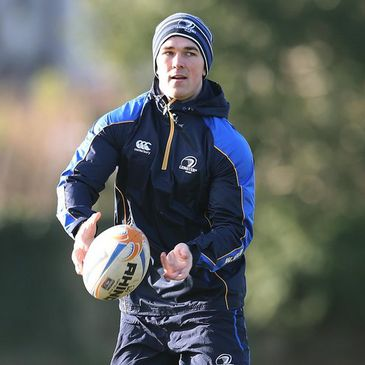 Eoin O'Malley training with the Leinster squad