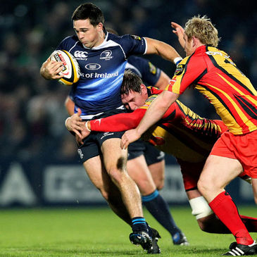 Leinster's Eoin O'Malley in action against the Dragons