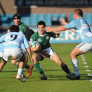 Ireland's Eoin O'Malley in action against the Argentina Under-20s