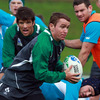 Eoin Reddan is pictured in possession as the players gear up for Ireland's first Test at Eden Park since they to New Zealand there in June 2006